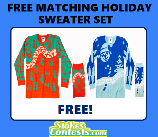 Image FREE Matching Holiday Sweater Set