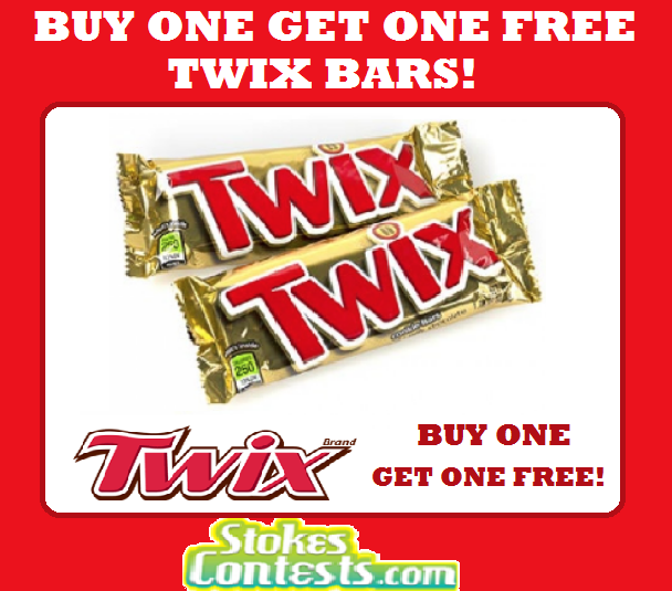 Image Buy One Get One FREE Twix Chocolate Bars!