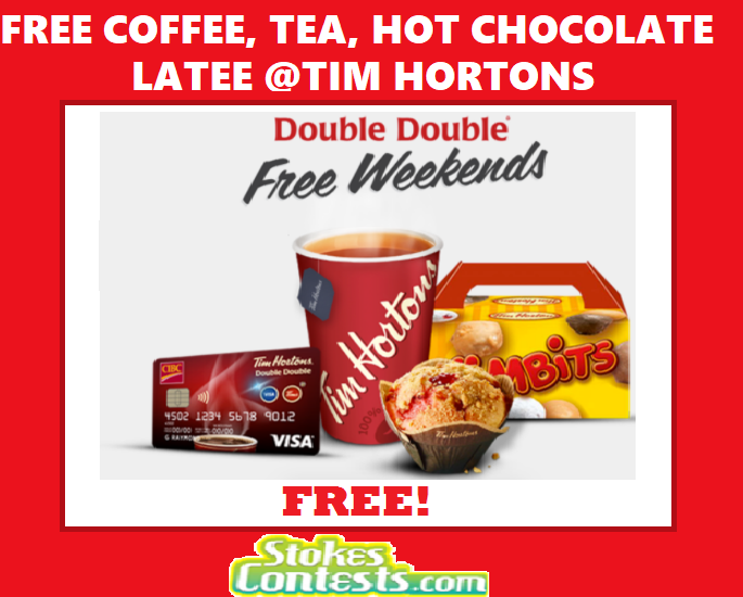 Image FREE Coffee, Hot Chocolate, Tea, or Latee Every Weekend @Time Hortons