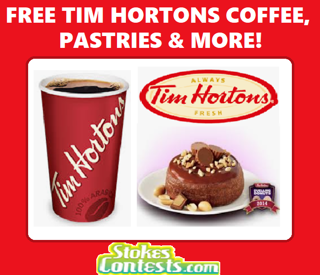 Image Share FREE Tim Hortons Coffee & Pastries to Your Friend!
