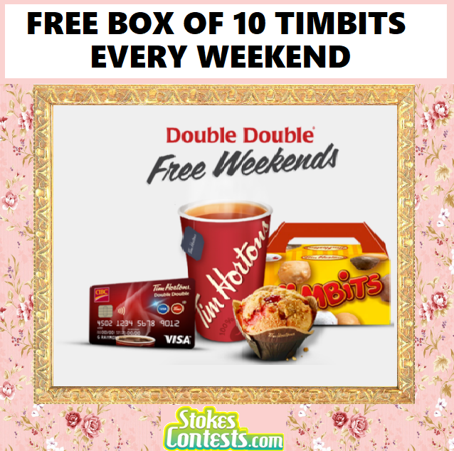 Image FREE BOX of 10 Timbits Every Weekend Using CIBC VIsa Card!