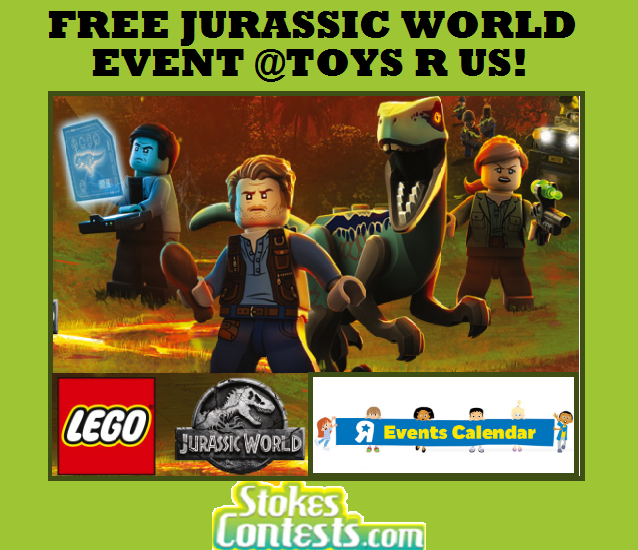 Image FREE LEGO Jurassic World Event PLUS $5 Shopping Gift Card @Toys R Us!