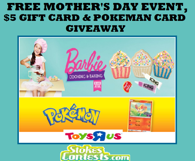 Image FREE Mother's Day Barbie Event, $5 Gift Card, & Pokemon Card Giveaway!