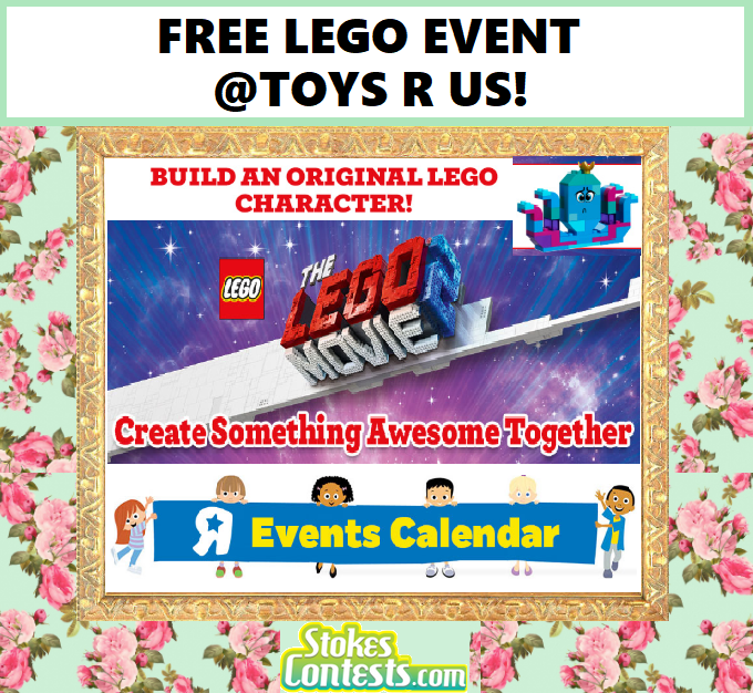 Image FREE Build an Original LEGO Character Event @Toys R Us!