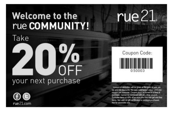 graphic regarding Rue 21 Printable Coupon titled STOKES Contests - Freebie - Rue21: 20% Off