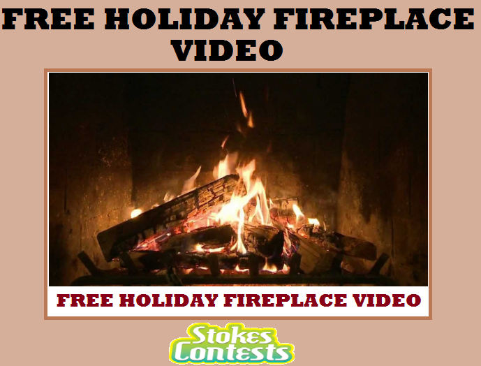 Image FREE Holiday Yule Log Fireplace Video.