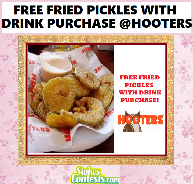 Image FREE Fried Pickles With Drink Purchase TODAY!!