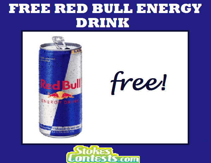 Image FREE Red Bull Can