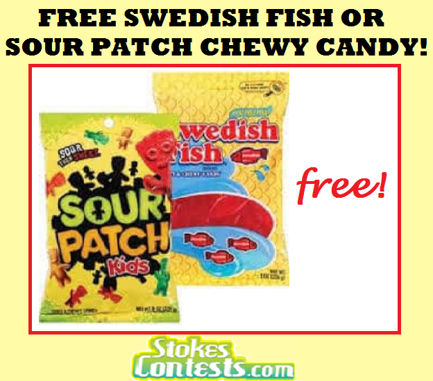 Image FREE Swedish Fish or Sour Patch Kids! TODAY ONLY!