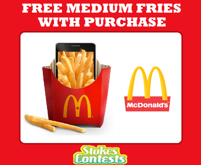 Image FREE Medium Fries with ANY Purchase at Mcdonald's!