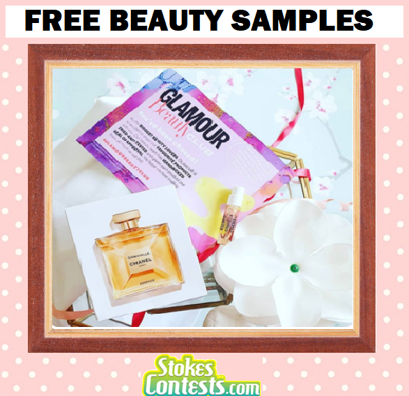 Image FREE Beauty Samples from GlamourMagazine