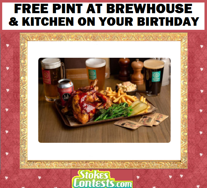 Image FREE Pint at Brewhouse & Kitchen on Your Birthday