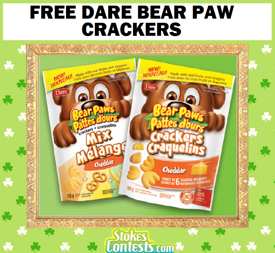 Image FREE Dare Bear Paw Crackers