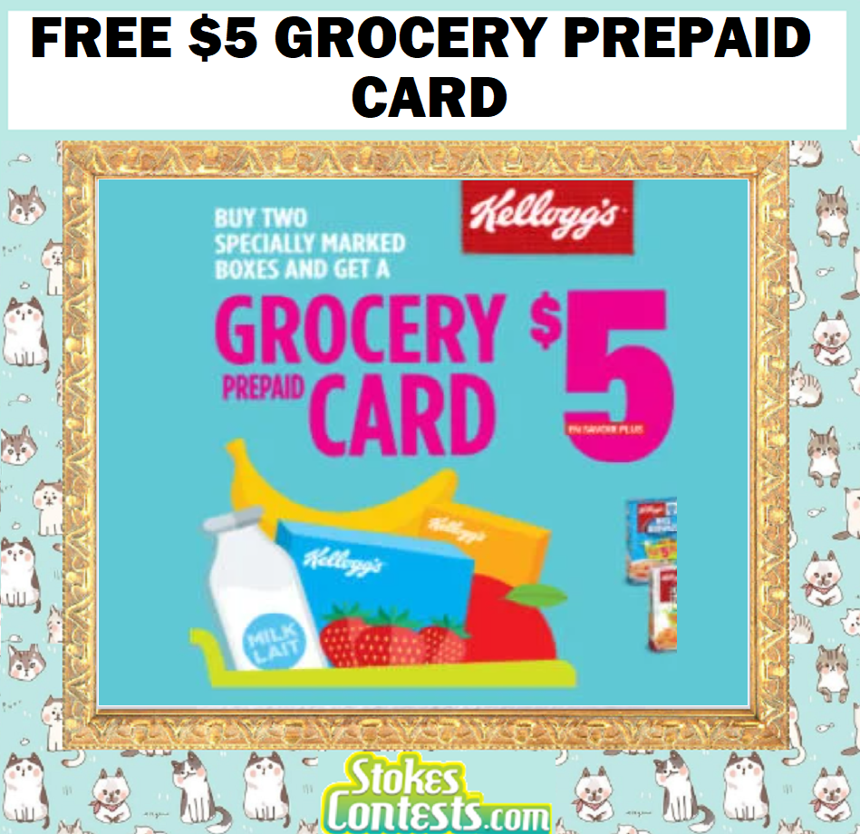 Image FREE $5 Grocery Prepaid Card with 2 Kellogg's Cereal Purchase!