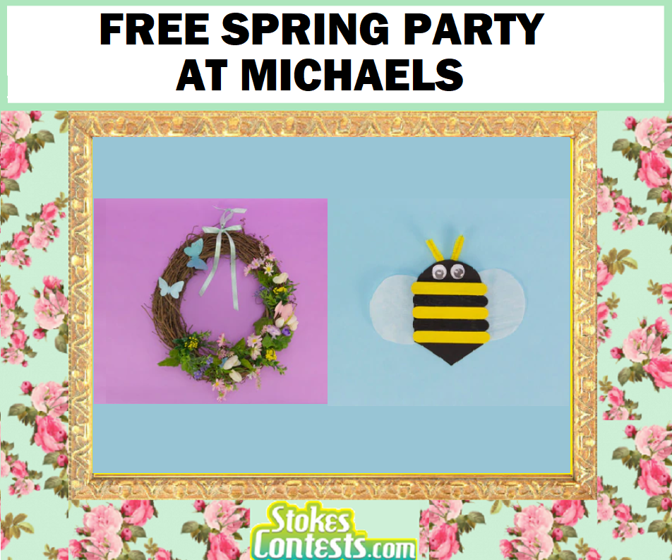 Image FREE Spring Garden Party at Michaels
