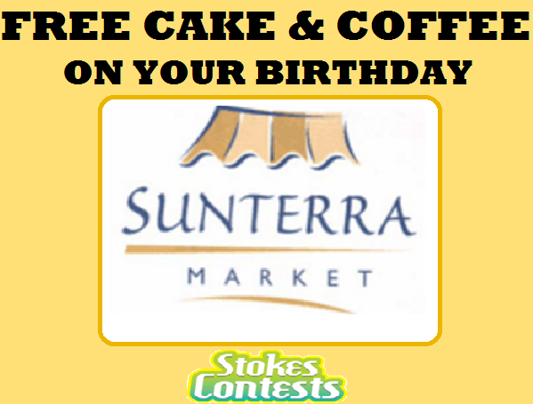 Image FREE Cake & Coffee at Sunterra Market (AB Only)
