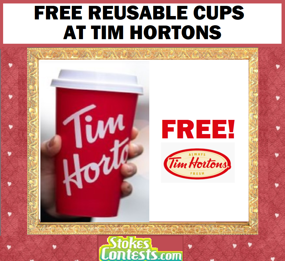 Image FREE Reusable Cups at Tim Hortons
