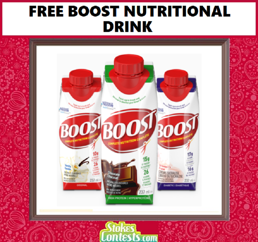 Image FREE Boost Nutritional Drink!