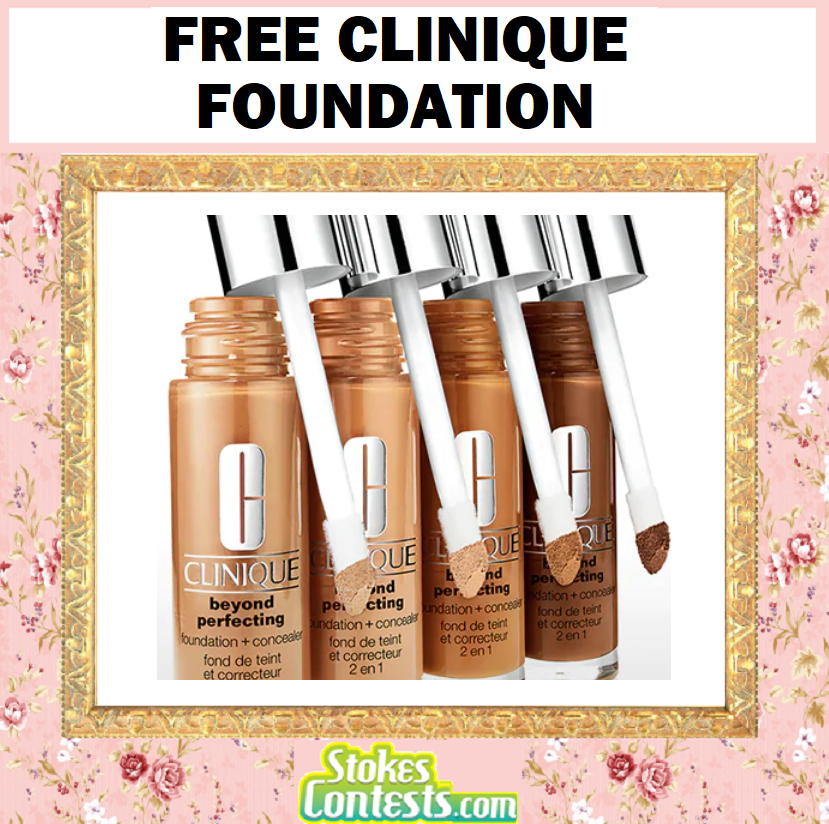 Image FREE Clinique Foundation + Concealer!